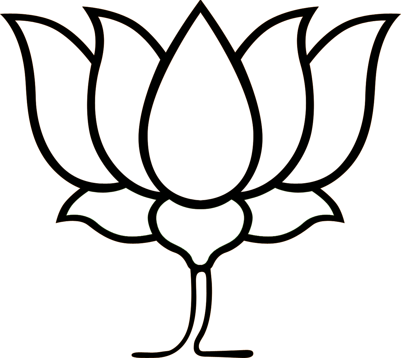 Lotus Clipart Logo Bjp Lotus Logo Bjp Transparent Free For Download On Webstockreview 2020