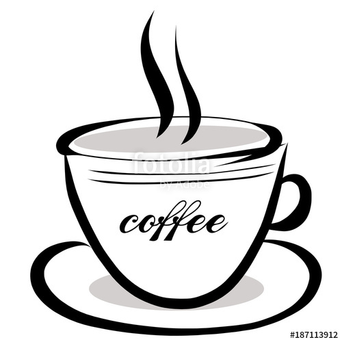 coffee clipart black and white coffee