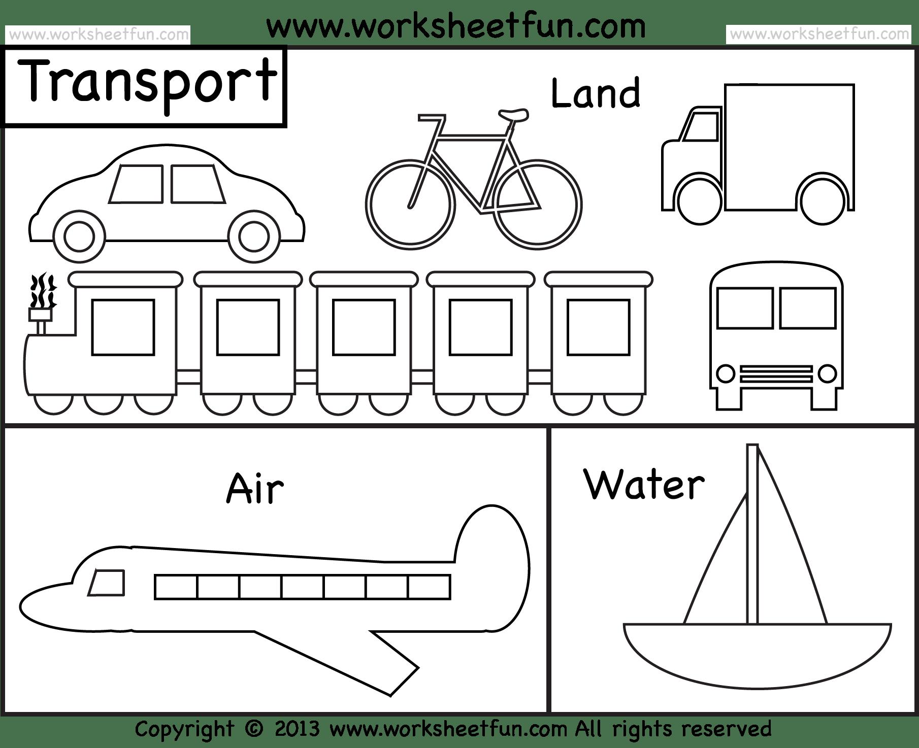 Transportation Clipart Printable Transportation Printable