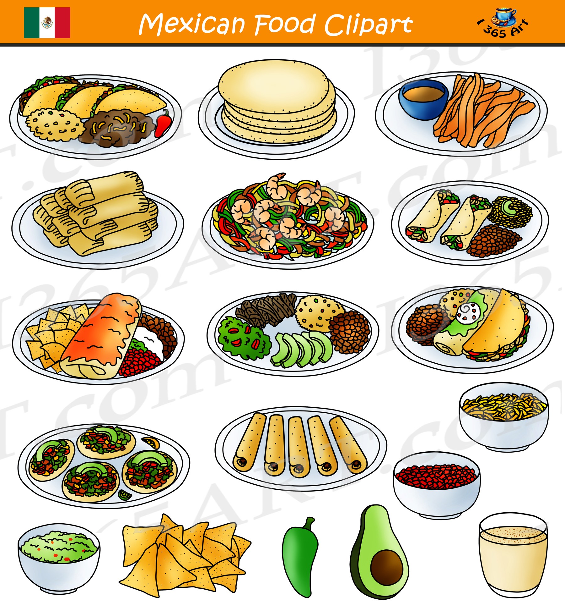Mexican Clipart Food Mexican Food Transparent Free For
