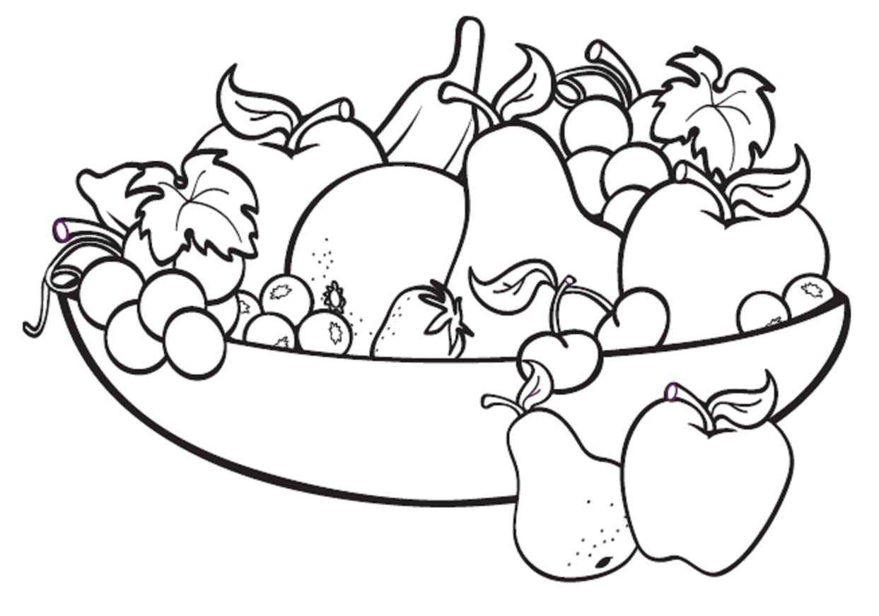 Fruits Clipart Drawing Fruits Drawing Transparent Free