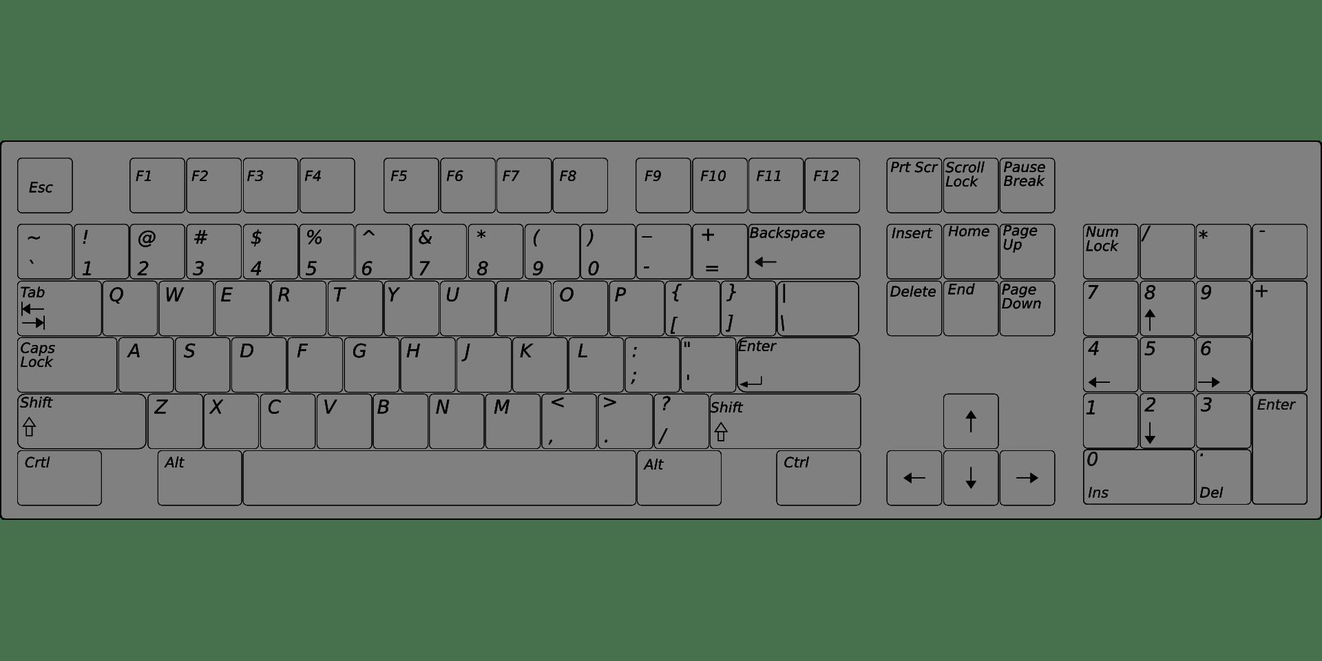 Keyboard Clipart Computer Keypad Keyboard Computer Keypad