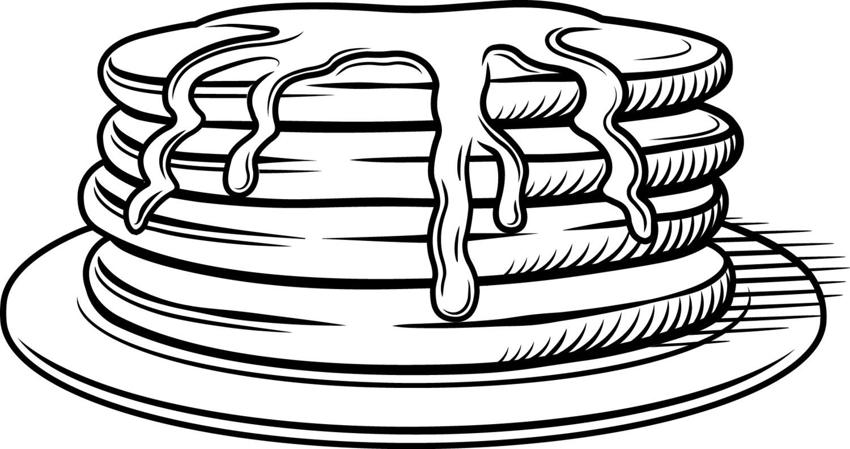 Pancake Clipart Outline Pancake Outline Transparent Free