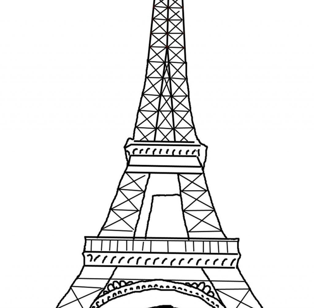 Paris Clipart Coloring Page Paris Coloring Page