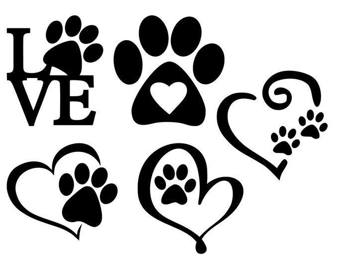 Download Pawprint clipart dog love, Pawprint dog love Transparent ...