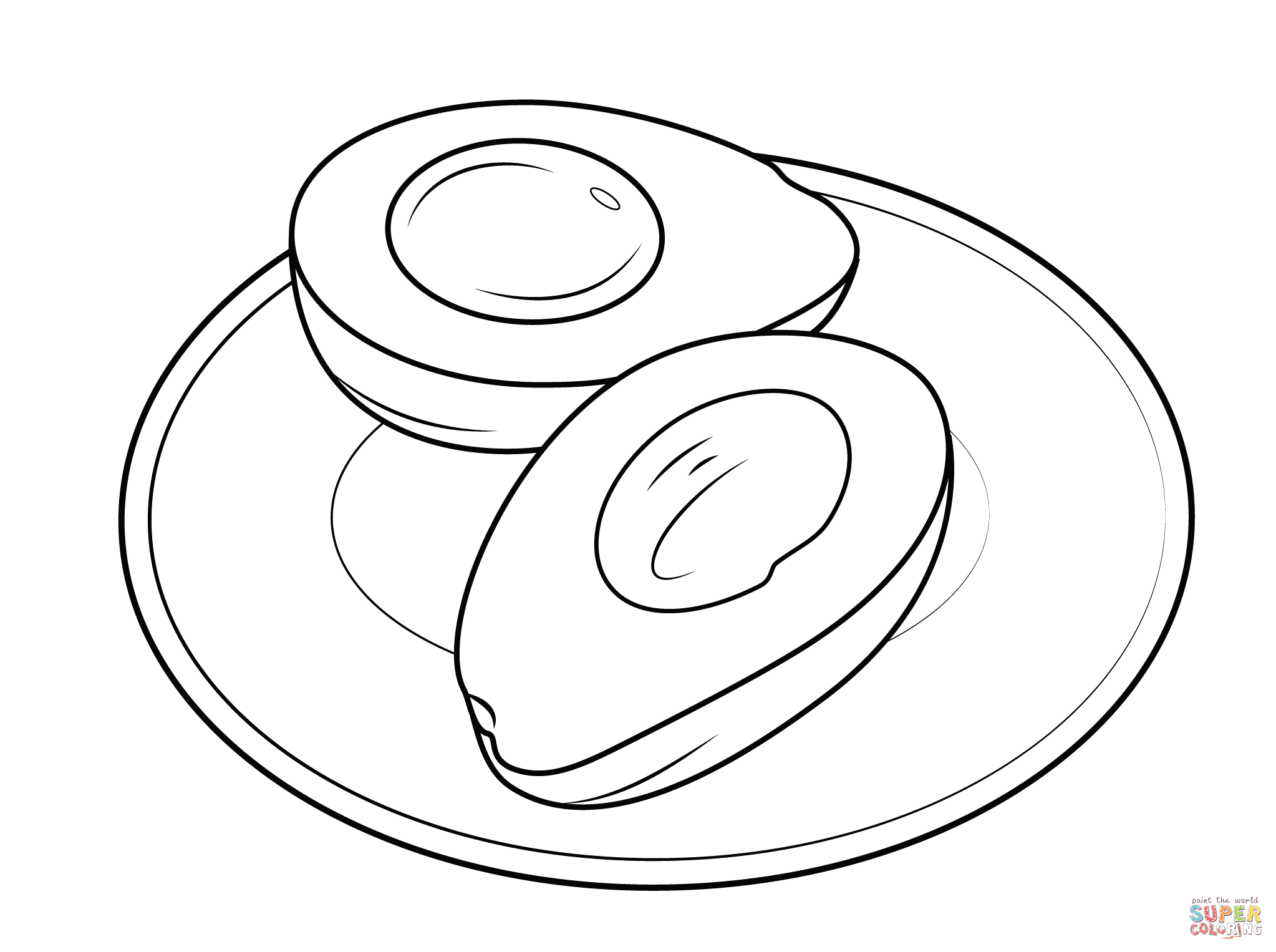 Plate Clipart Colouring Plate Colouring Transparent Free
