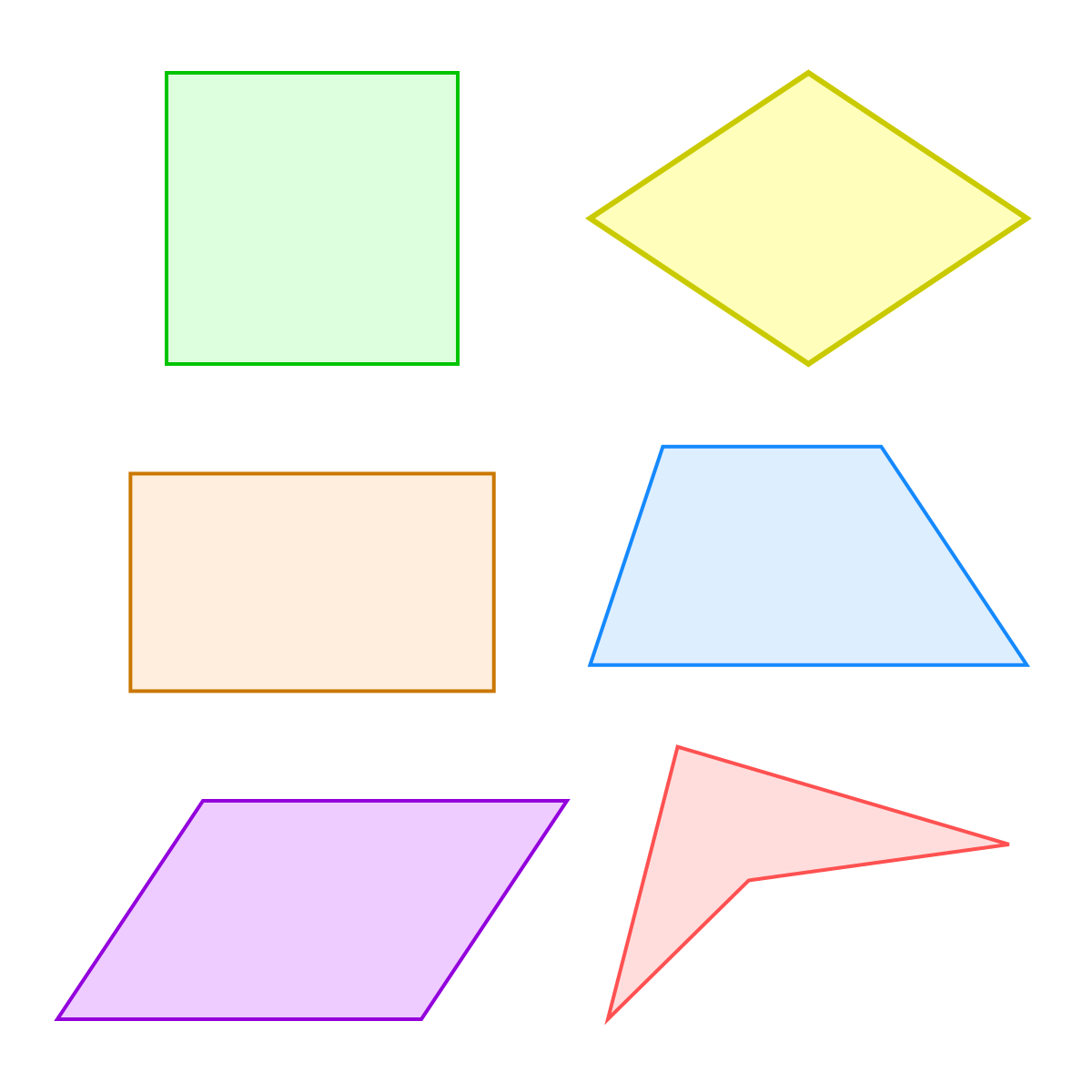 Square Clipart Quadrilateral Shape Square Quadrilateral