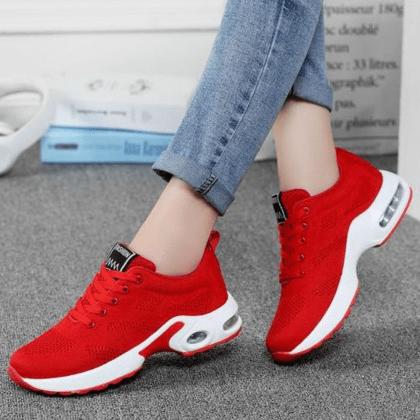 Unique Sport Red Female Sneakers