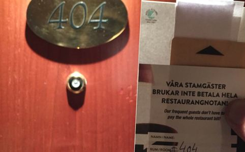 Room 404 at Scandic Hotell in Stockholm