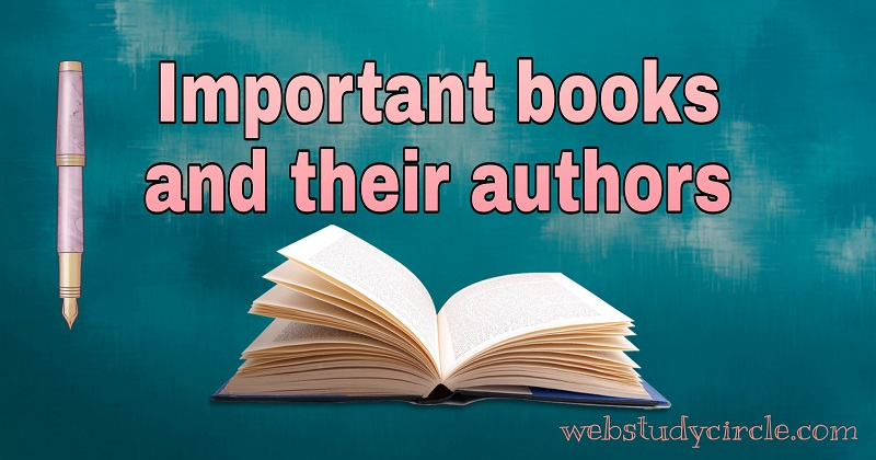 Important books and their authors