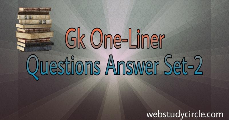 one liner general knowledge set