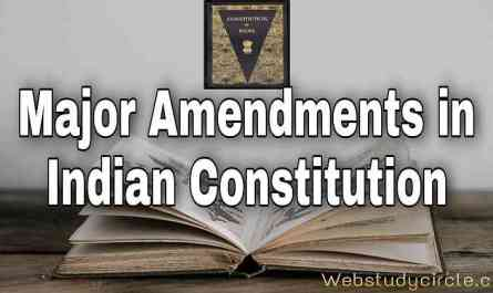 major amendments in indian constitution