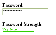Password Strength Meter Like Google