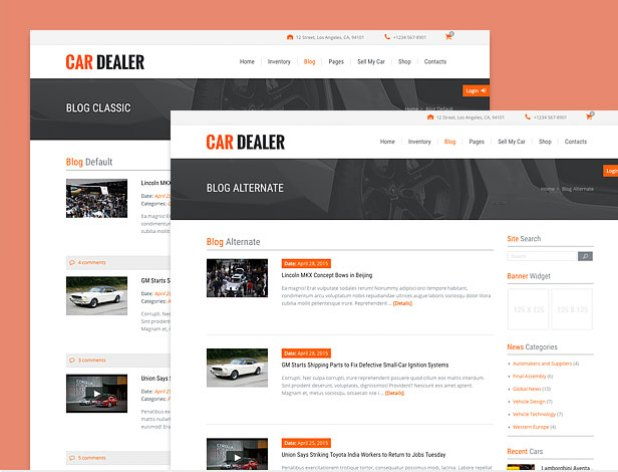 different automotive blog styles