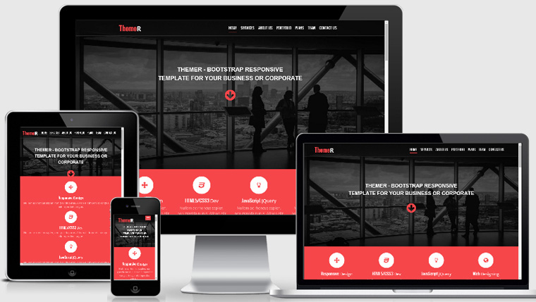 Themer Free Bootstrap Responsive Website Template