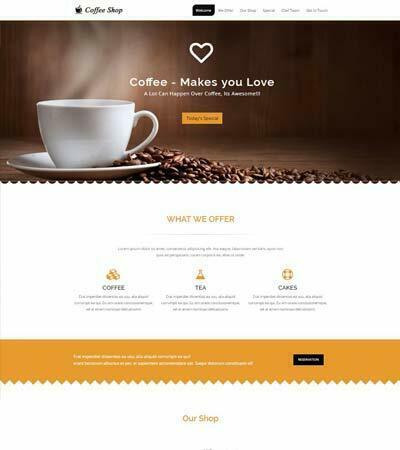 Coffee Shop Website Free Download Webthemez