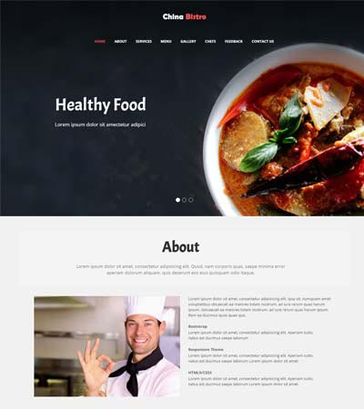 Latest Free Food Restaurant Website Templates Free Download 2020