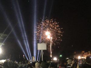 フジロック2017前夜祭の花火