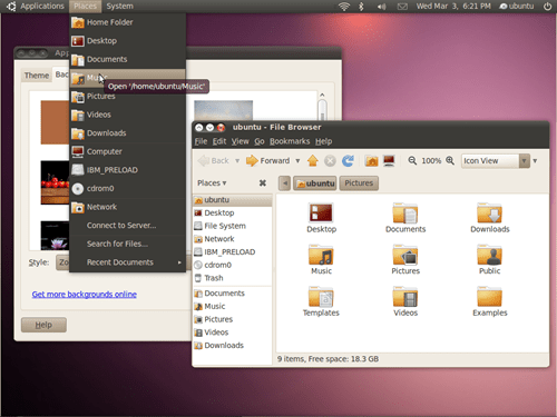 New ubuntu theme