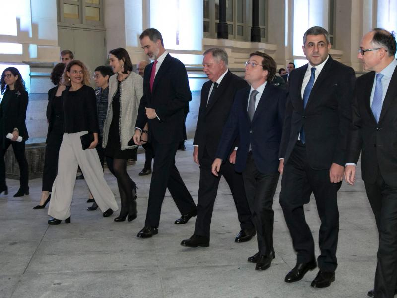 King of Spain arrives at Gala Dinner