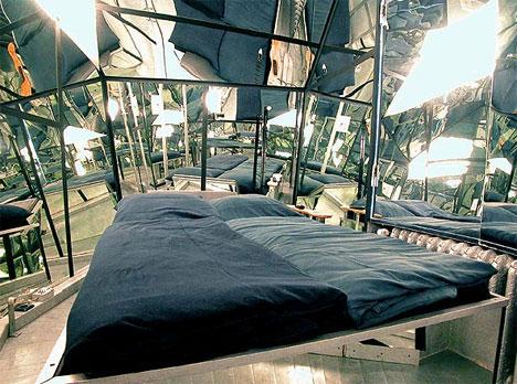 Fully Mirrored Art Hotel Room