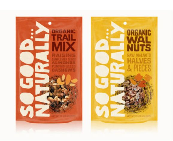 So Good... Naturally's packaging as an example of non-linear typographic hierarchy