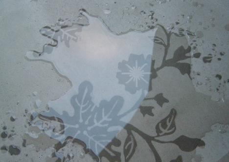 agua patrón cemento oculto