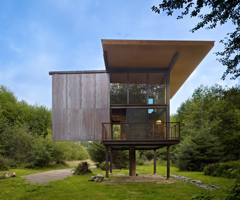 Indestructable Cabin Steel Clad Apocalypse Home On Stilts