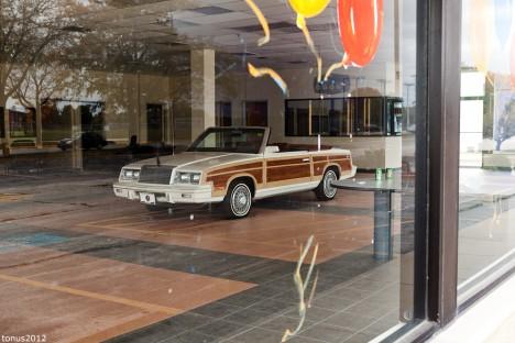 abandoned Le Baron convertible Chicago car dealership