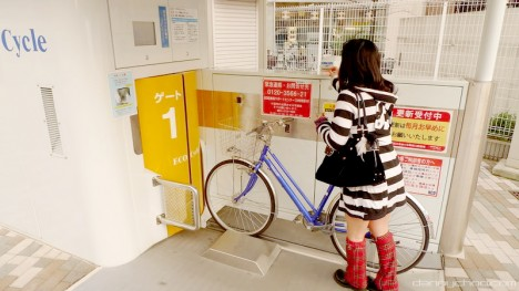 underground japanese bicycle park