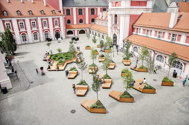 Mobile Urbanism Wheeled Benches Planters Let Public
