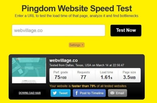 pingdom-webvillage