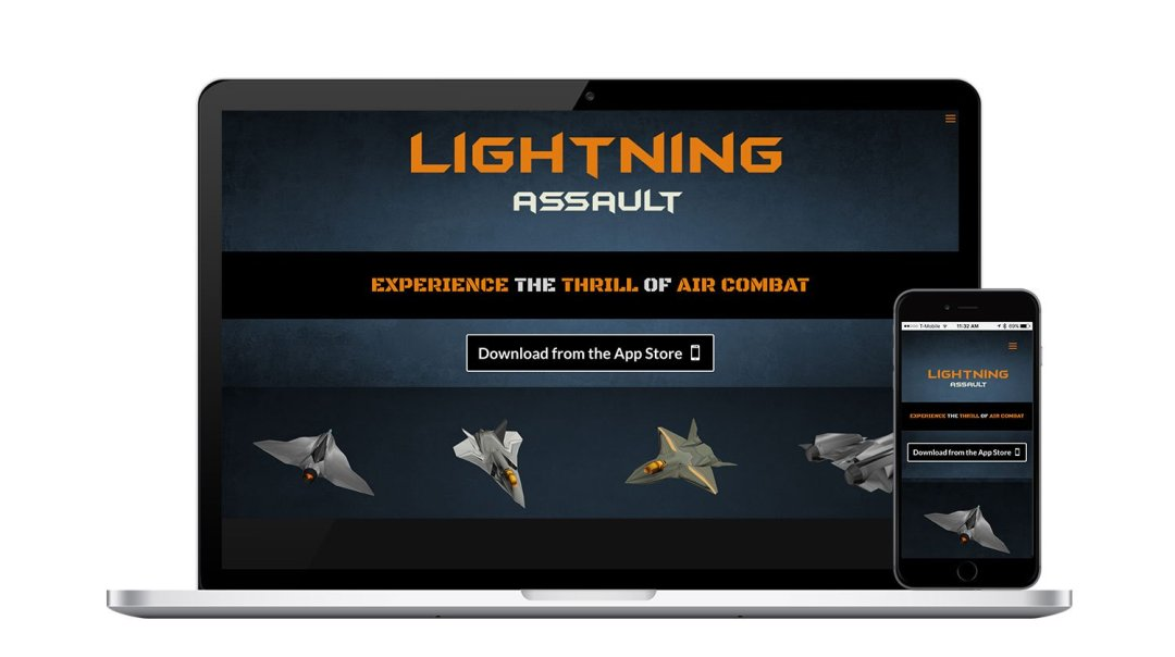 Lightning Assault Responsive Website