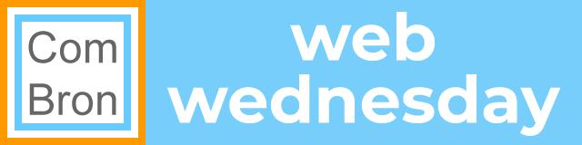 Web Wednesday logo Communicatiebureau ComBron Communicatie.