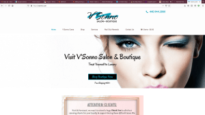 New Website Project for V'Sonno Salon and Boutique