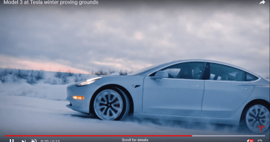 Tesla Model 3 winter proving grounds 1