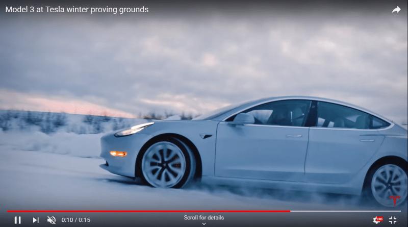 Tesla Model 3 winter proving grounds 1