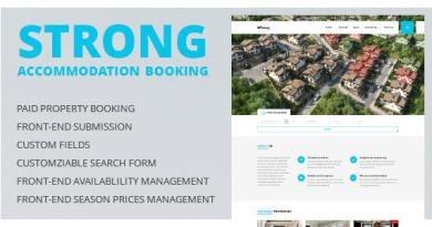 Accommodation Booking WordPress Theme - Strong 3