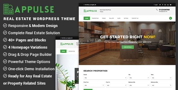 Appulse - Real Estate WordPress Theme 1