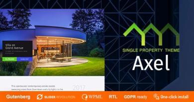 Axel - Single Property Real Estate Theme 4