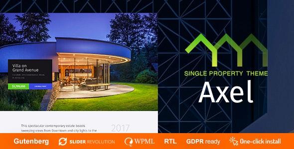 Axel - Single Property Real Estate Theme 1