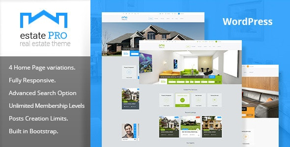 Estate Pro - Real Estate WordPress Theme 1