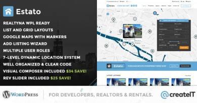 Estato - WordPress Theme for Real Estate and Developers 2