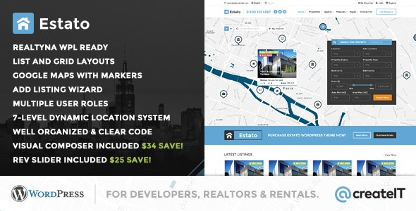 Estato - WordPress Theme for Real Estate and Developers 1
