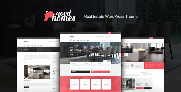 Good Homes | A Contemporary Real Estate WordPress Theme 1