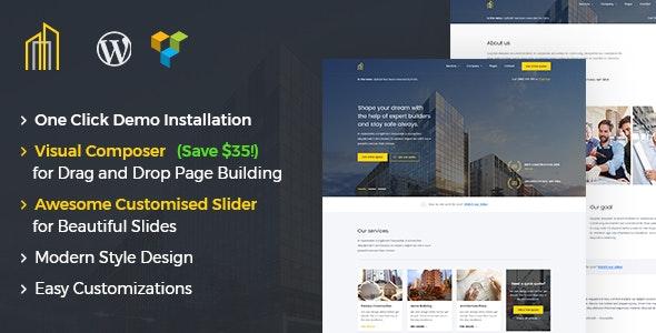 GrayHouse - Modern Construction WordPress Theme 1