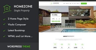 HOME ZONE - Single Property Real Estate WordPress Theme 3