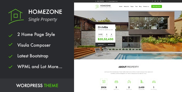 HOME ZONE - Single Property Real Estate WordPress Theme 24