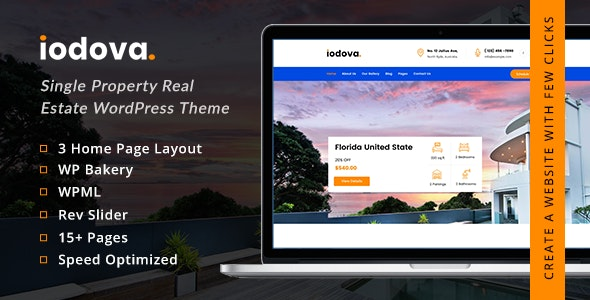 Iodova - Single Property Real Estate WordPress Theme 8