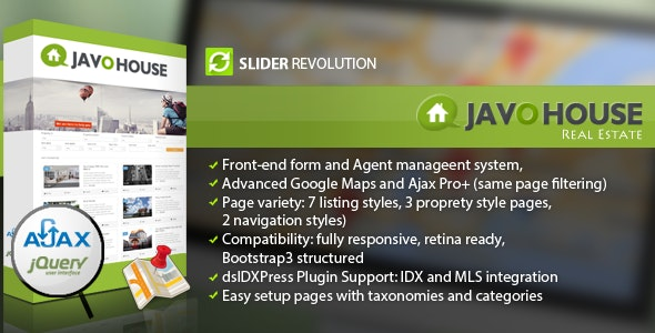 Javo House - Real Estate WordPress Theme 1